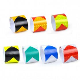 Taffpack Reflective Sticker Marker Mobil Truk Arrow Pattern 5cm 3 Meter - 68 - White/Green - 4