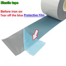 NCIBUIN Reflective Sticker Jaket Pakaian Heat Press 10mm 5 Meter - TXWT - Silver - 2