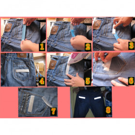 NCIBUIN Reflective Sticker Jaket Pakaian Heat Press 10mm 5 Meter - TXWT - Silver - 6