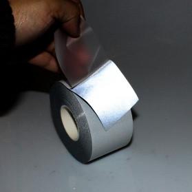 NCIBUIN Reflective Sticker Jaket Pakaian Heat Press 50mm 1 Meter - TXWT - Silver - 4