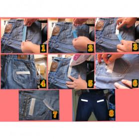 NCIBUIN Reflective Sticker Jaket Pakaian Heat Press 50mm 1 Meter - TXWT - Silver - 6