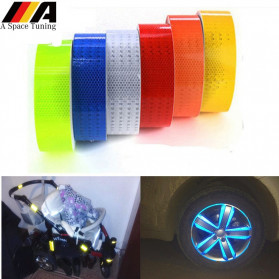 TaffPACK Nano Car Reflective Sticker Warning Strip Tape Color Trunk Exterior 5x100cm - White - 5
