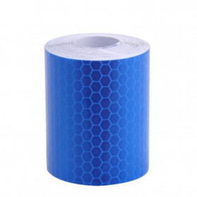 TaffPACK Nano Car Reflective Sticker Warning Strip Tape Color Trunk Exterior 5x100cm - Blue