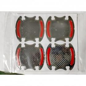 Seametal Reflective Sticker Gagang Pintu Mobil Car Door Handle Safety Warning Carbon Fiber 4PCS - 1185 - Blue - 7