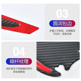 CARSUN Reflective Sticker Mobil Safety Warning Sign Decal 2 PCS - 1186 - Red - 5