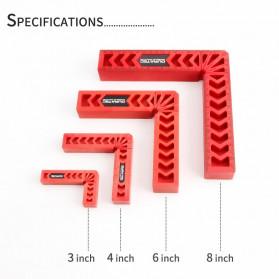 DURATEC Corner Clamp Penjepit Sudut Frame Kaca Kayu Angle 90 Derajat 8 Inch - 867 - Red - 2