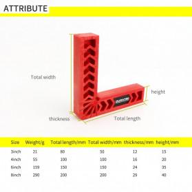 DURATEC Corner Clamp Penjepit Sudut Frame Kaca Kayu Angle 90 Derajat 8 Inch - 867 - Red - 3