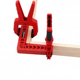 DURATEC Corner Clamp Penjepit Sudut Frame Kaca Kayu Angle 90 Derajat 8 Inch - 867 - Red - 4