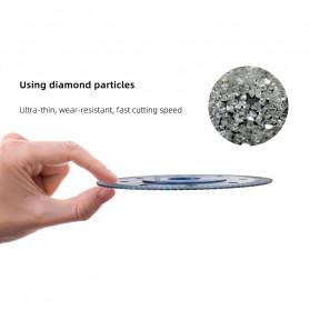 Grimz Kepala Gergaji Diamond Saw Blade Angle Grinder Blade Marble Blade 105mm - Gsz 23 - Silver Blue - 5