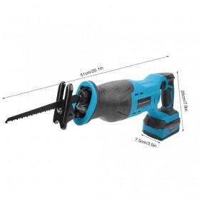 NEWONE Gergaji Listrik Cordless Reciprocating Chain Saw 20V - M8207 - Black/Blue - 4