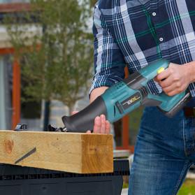 NEWONE Gergaji Listrik Cordless Reciprocating Chain Saw 20V - M8207 - Black/Blue - 6