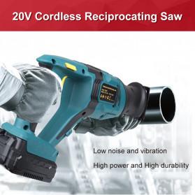 NEWONE Gergaji Listrik Cordless Reciprocating Chain Saw 20V - M8207 - Black/Blue - 8
