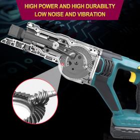 NEWONE Gergaji Listrik Cordless Reciprocating Chain Saw 20V - M8207 - Black/Blue - 9