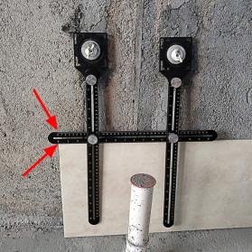 ACEHE Alat Bantu Penanda Double Head Folding Tile Hole Locator - A234 - 2