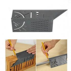 DIDIHOU Penggaris Mark Line 3D Measuring Ruler Woodworking Tool with Gauge - M141426 - Gray