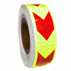 WANLUNLI Reflective Sticker Marker Mobil Truk Arrow Pattern 5cm 25 Meter - 68 - Red/Yellow