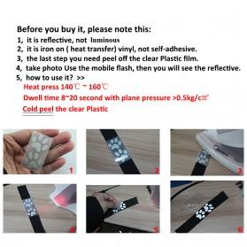 DUUTI Sticker Lucu Reflective Press Pakaian Serbaguna Size 50mm x 1m Model M02 - Silver - 4