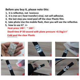 DUUTI Sticker Lucu Reflective Press Pakaian Serbaguna Size 50mm x 1m Model M05 - Silver - 4
