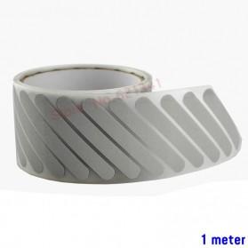 DUUTI Sticker Lucu Reflective Press Pakaian Serbaguna Size 50mm x 1m Model M22 - Silver - 2