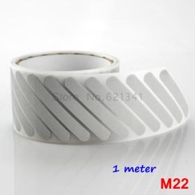 DUUTI Sticker Lucu Reflective Press Pakaian Serbaguna Size 50mm x 1m Model M22 - Silver - 3
