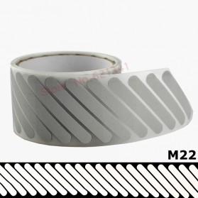 DUUTI Sticker Lucu Reflective Press Pakaian Serbaguna Size 50mm x 1m Model M22 - Silver - 5