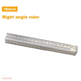 FNICEL Penggaris Mark Angle Line L-Type Measuring Ruler Woodworking Tool 180mm - WW28