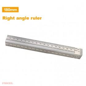 FNICEL Penggaris Mark Angle Line L-Type Measuring Ruler Woodworking Tool 180mm - WW28