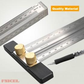 FNICEL Penggaris Mark Angle Line L-Type Measuring Ruler Woodworking Tool 180mm - WW28 - 3
