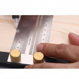 FNICEL Penggaris Mark Angle Line L-Type Measuring Ruler Woodworking Tool 180mm - WW28 - 7