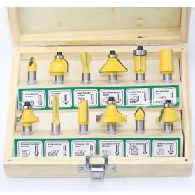 RCT Mata Bor Drill Bit Mitter Router Bit Milling Tool Shank 8mm 12PCS - TCA12 - 4