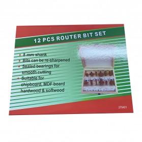 RCT Mata Bor Drill Bit Mitter Router Bit Milling Tool Shank 8mm 12PCS - TCA12 - 6