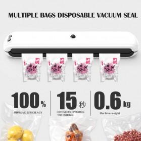 WOMSI Pompa Vacuum Sealer Makanan Food Packing Machine Single Pump with 10 Bags - SX-360 - Blue - 3
