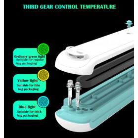 WOMSI Pompa Vacuum Sealer Makanan Food Packing Machine Single Pump with 10 Bags - SX-360 - Blue - 9
