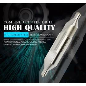 XCAN Mata Bor Center Drill Bits Set Precision Combined Countersinks Kit 10 PCS - DB025Z - Silver - 6