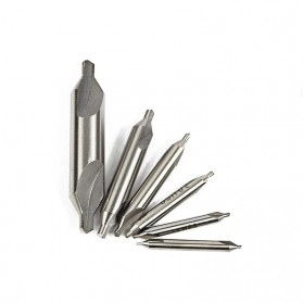 XCAN Mata Bor Center Drill Bits Set Precision Combined Countersinks Kit 5 PCS - DB025Z - Silver - 2
