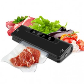 YUNKE Pompa Vacuum Sealer Air Sealing Food Packing Preservation - LP1805 - Black