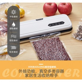 XinBaoLong Pompa Vacuum Sealer Air Sealing Food Packing Preservation - QH-12 - Black - 6