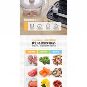 XinBaoLong Pompa Vacuum Sealer Air Sealing Food Packing Preservation - QH-12 - Black - 9