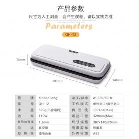 XinBaoLong Pompa Vacuum Sealer Air Sealing Food Packing Preservation - QH-12 - Black - 10
