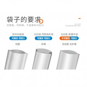 XinBaoLong Pompa Vacuum Sealer Air Sealing Food Packing Preservation - QH-03 - Black - 8