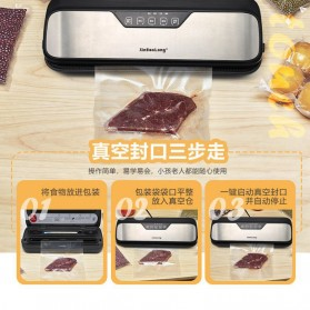 XinBaoLong Pompa Vacuum Sealer Air Sealing Food Packing Preservation Stainless Steel - QH-12 - Black - 3