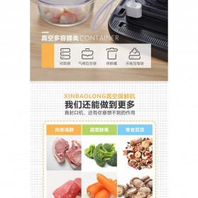XinBaoLong Pompa Vacuum Sealer Air Sealing Food Packing Preservation Stainless Steel - QH-12 - Black - 5