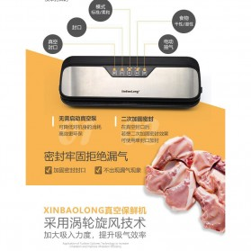 XinBaoLong Pompa Vacuum Sealer Air Sealing Food Packing Preservation Stainless Steel - QH-12 - Black - 8