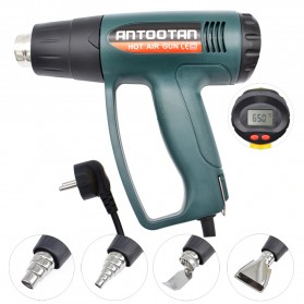 ANTOOTAN Heat Gun Hot Air Thermoregulator LED Display 2000W - 620B - Green