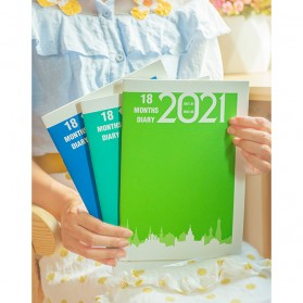 JIANWU Buku Diary Kalender Catatan Jurnal Harian Notebook Ukuran A5 - S253 - Lake Blue