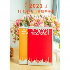 JIANWU Buku Diary Kalender Catatan Jurnal Harian Notebook Ukuran A5 - S253 - Lake Blue - 2