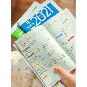 JIANWU Buku Diary Kalender Catatan Jurnal Harian Notebook Ukuran A5 - S253 - Lake Blue - 3