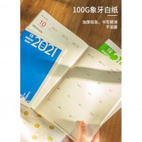 JIANWU Buku Diary Kalender Catatan Jurnal Harian Notebook Ukuran A5 - S253 - Lake Blue - 4