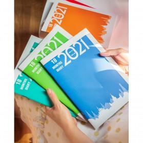 JIANWU Buku Diary Kalender Catatan Jurnal Harian Notebook Ukuran A5 - S253 - Lake Blue - 6