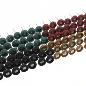 SPTA Mata Bor Polishing Cleaning Brush Scrubbing Fiber Wheel 40PCS - JIG-YT40 - Mix Color - 1